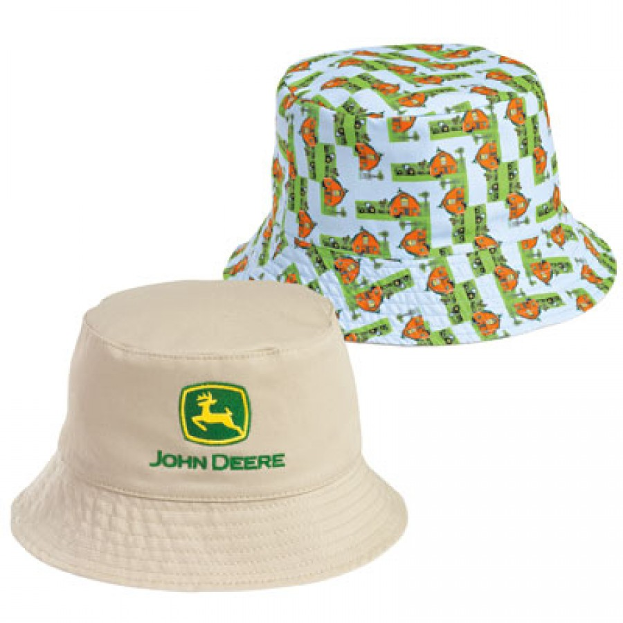 John Deere Toddler Khaki Bucket Hat | RunGreen.com