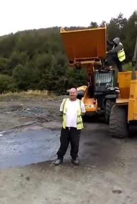 ALS Ice bucket challenge gone wrong with an excavator :-)