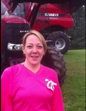 ALS Ice Bucket Challenge with Case IH Tractor