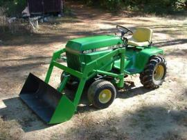 Cost to Ship - JOHN DEERE 420 GARDEN TRACTOR WITH BUCKET ...