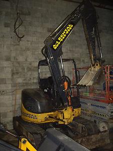 john deere 50d mini excavator bobcat bucket 12.8 extra dig