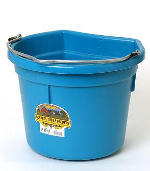 Little Giant 20 Quart Flat Back Duraflex Plastic Bucket ...