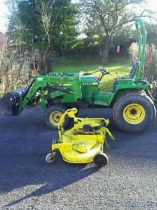 JOHN DEERE 855 COMPACT TRACTOR WITH MOWER DECK AND 4 IN 1 ...