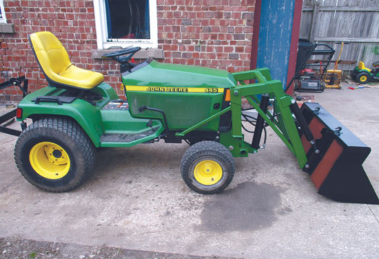 DIY Mini Front-End Loader for John Deere Garden Tractors ...