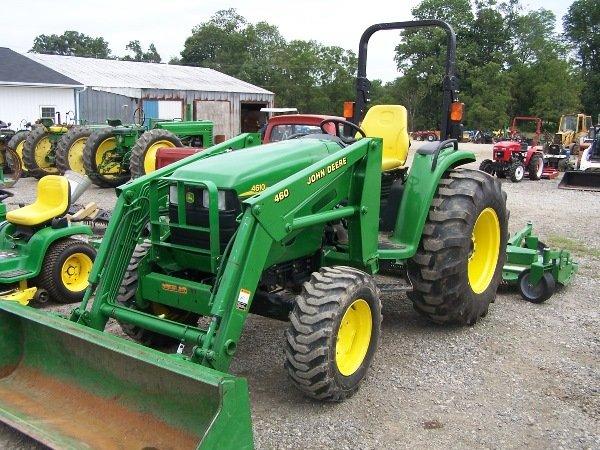 23: John Deere 4610 Tractor w/ 460 Loader : Lot 23