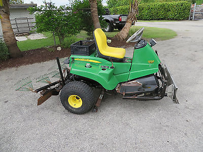 John Deere 1200 Hydro Sand Bunker Rake Great Infields Plow Center Hyd ...