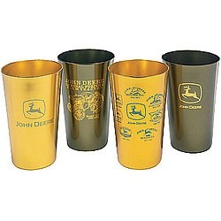 John Deere Logo Design Aluminum 16 oz Beverage Tumblers - Set of 4 ...