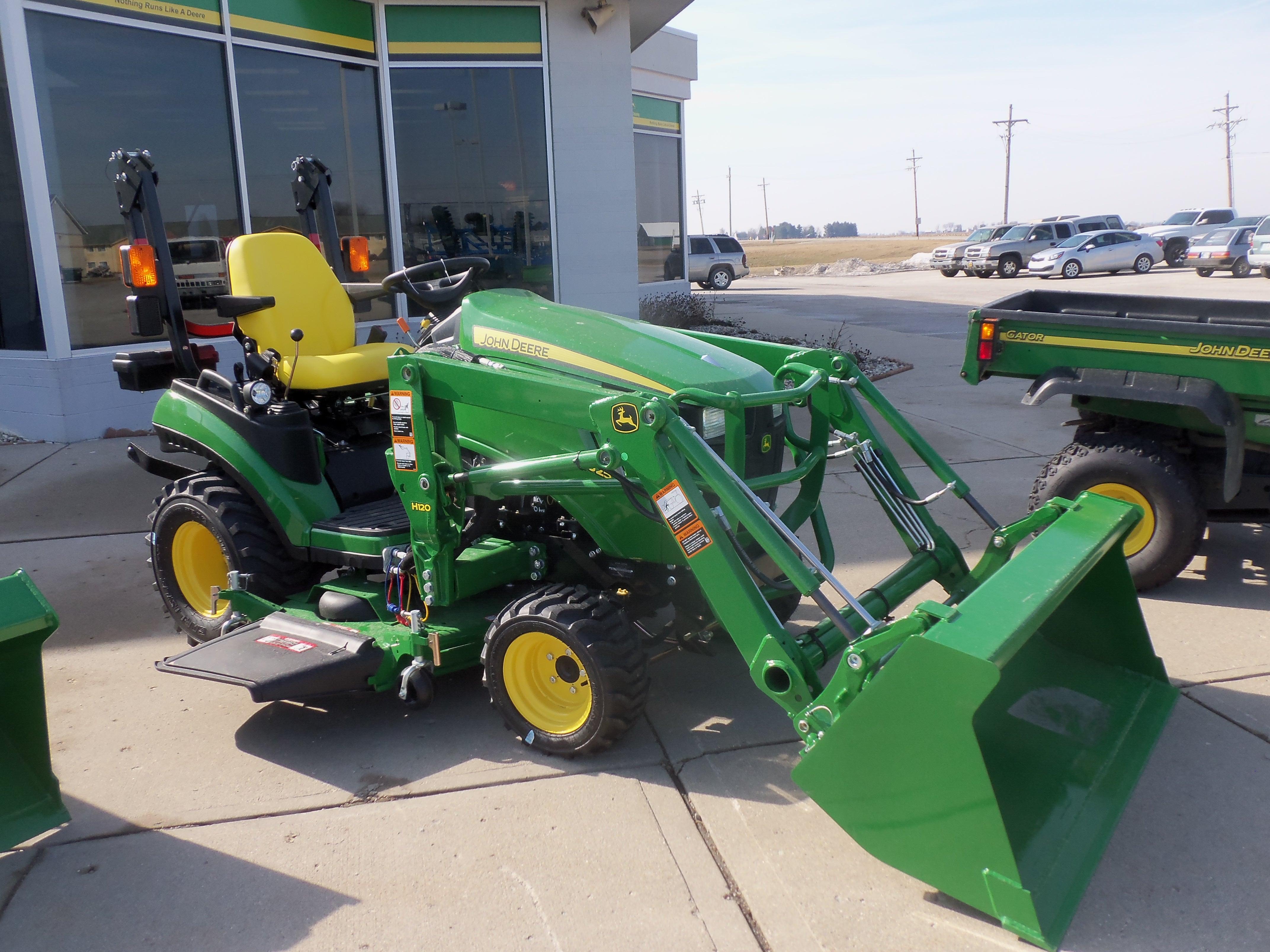 John Deere 1025R with H120 loader | John Deere equipment | Pinterest
