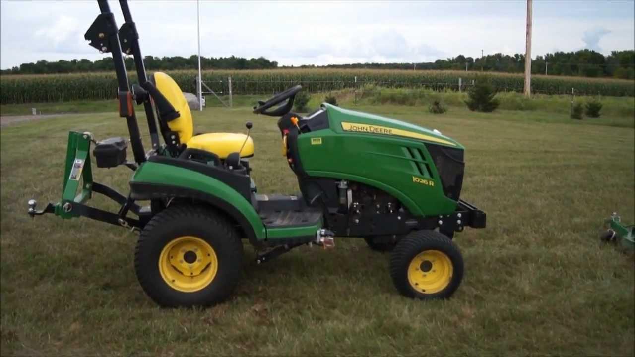 John Deere 1026R Tractor - YouTube