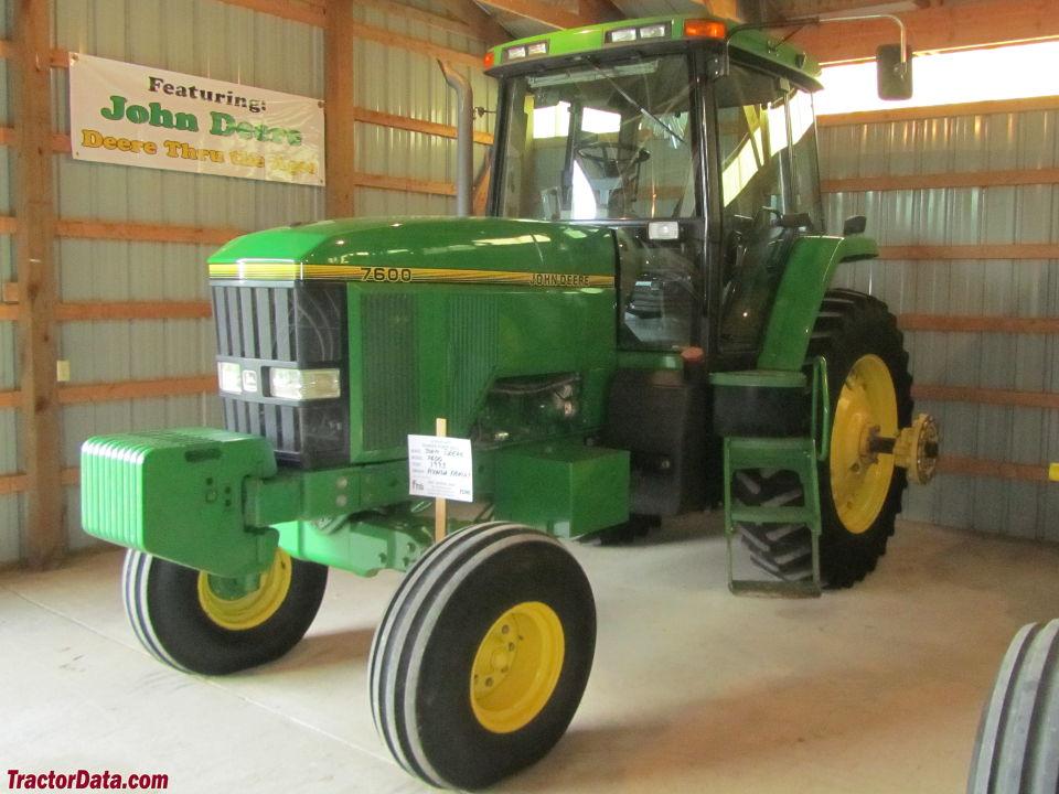 TractorData.com John Deere 7600 tractor photos information