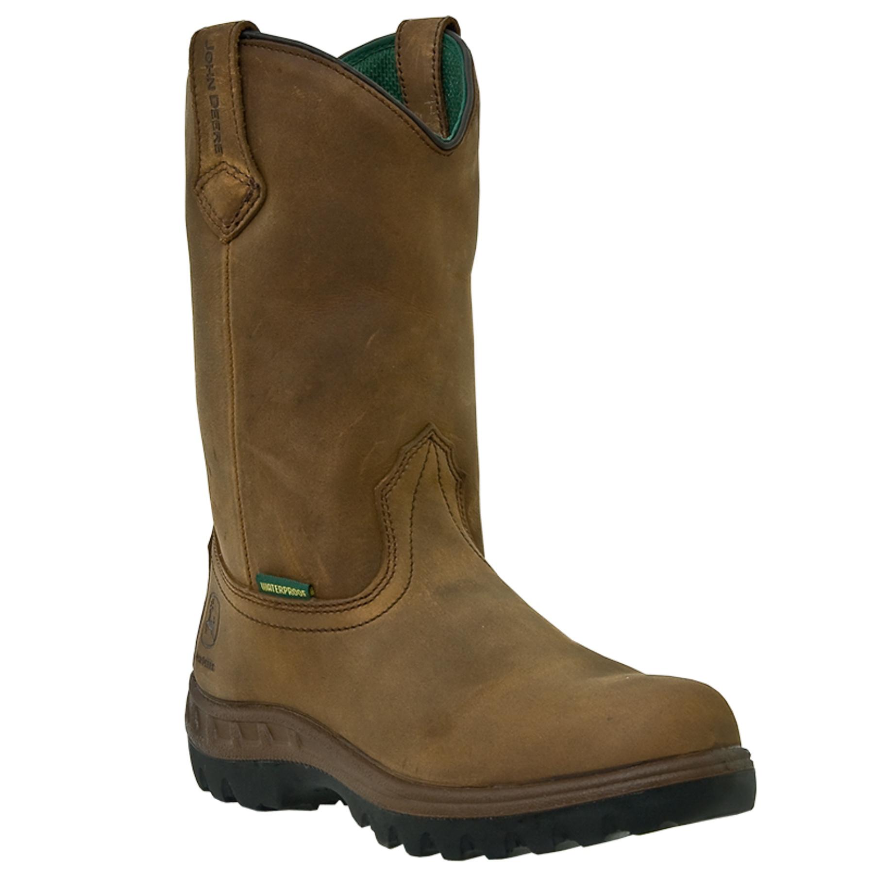 John Deere John Deere Men'S Brown Leather Boots 8 W - Pricefalls.com