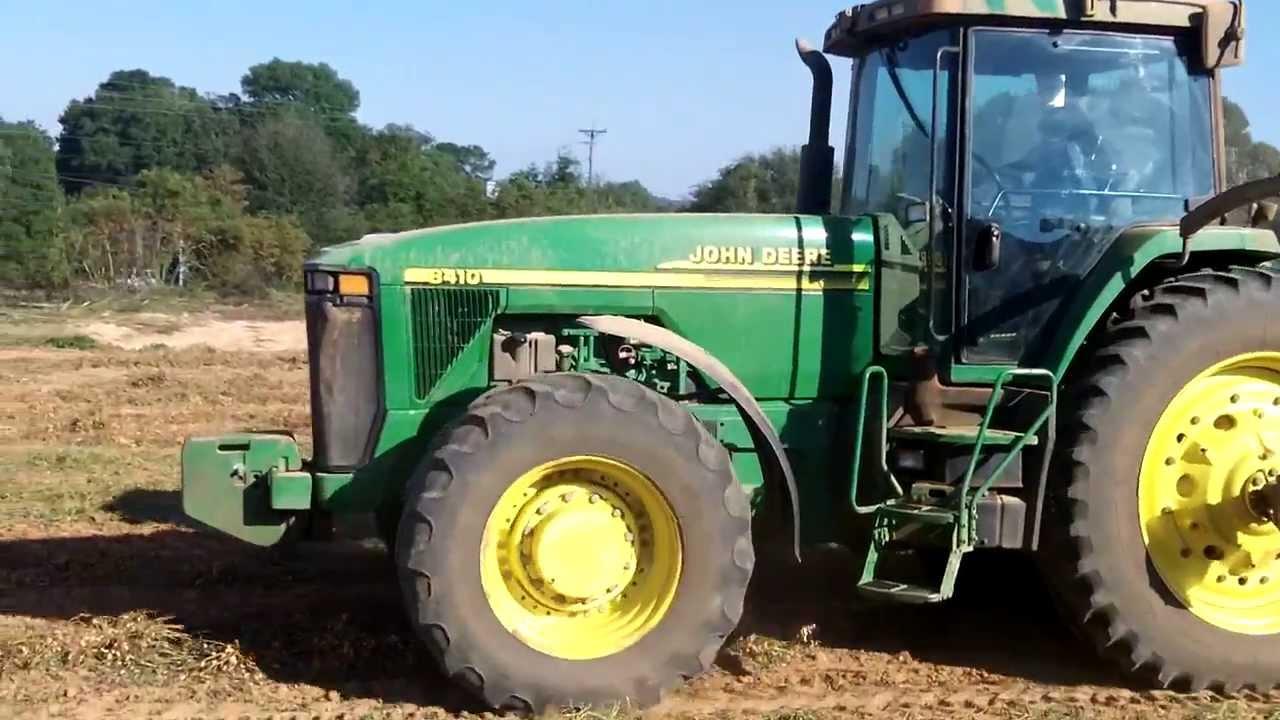John Deere 8410 Tractor Pulling a KMC Peanut Picker ...