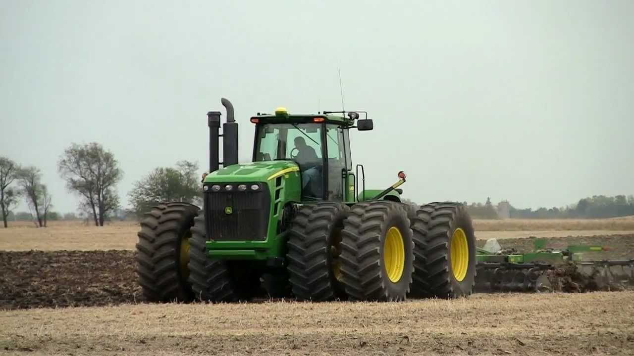 John Deere 9530 Tractor on 10-18-2011 - YouTube
