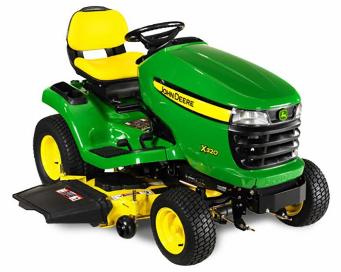 John Deere Select Series X300 Lawn Tractor X320 48 in Deck