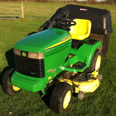 John Deere Gx 355 Diesel Ride On Mower With Tripple Bagger ...