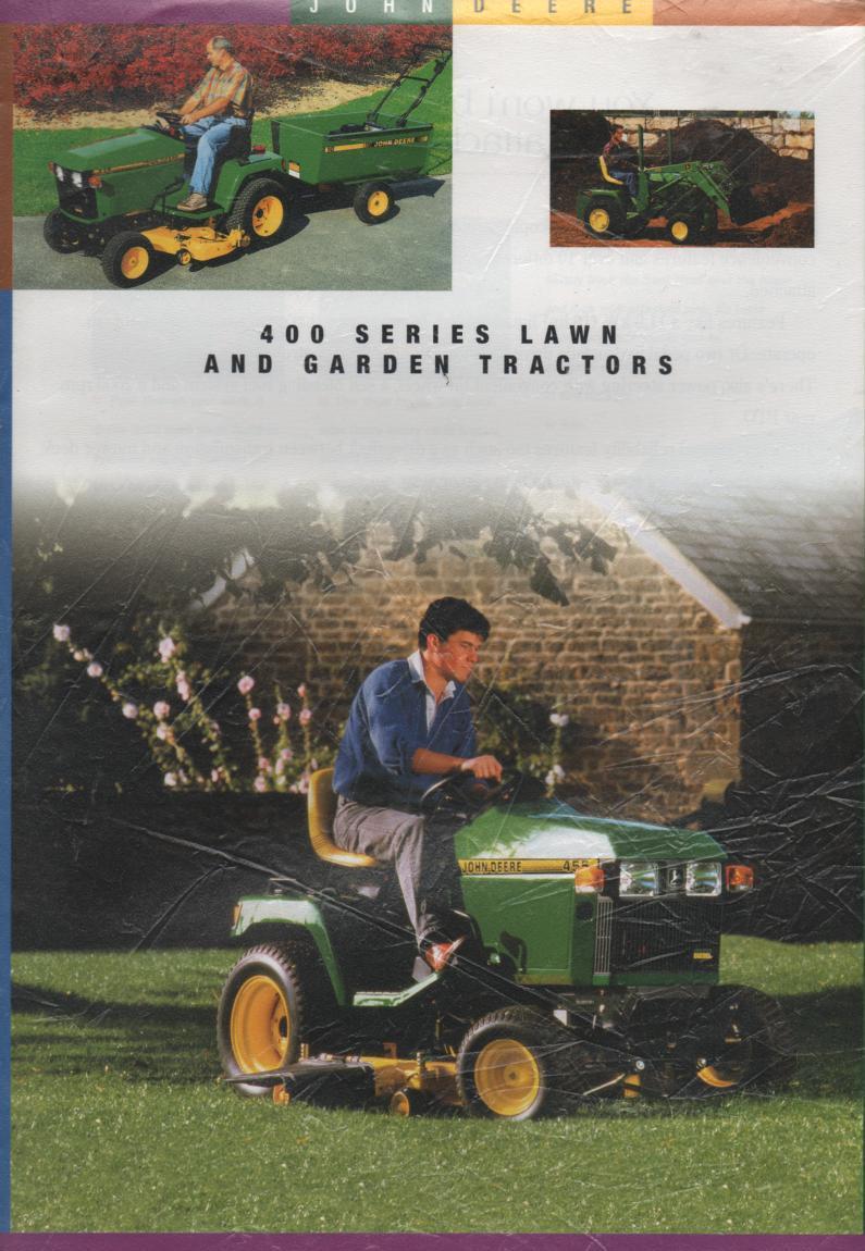John Deere Lawn & Garden Tractors - 400 Series Brochure