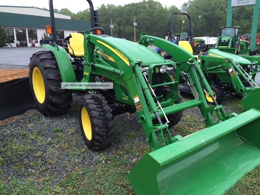 John Deere 4105 Compact Utility Tractor With H165 Loader