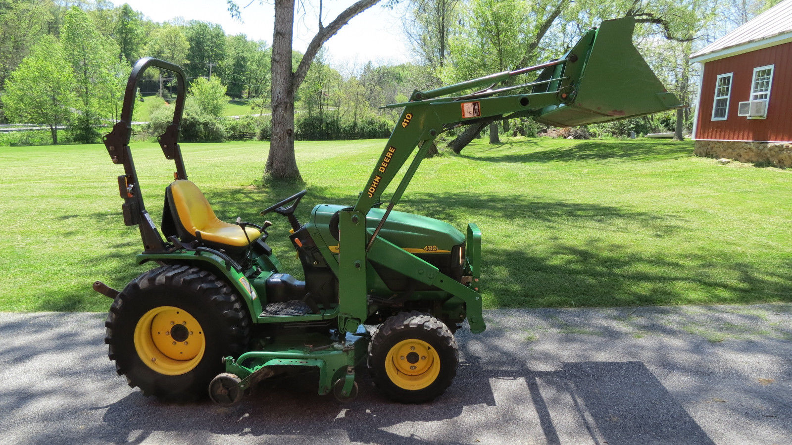 2003 JOHN DEERE 4110 4X4 COMPACT UTILITY TRACTOR W/ LOADER ...
