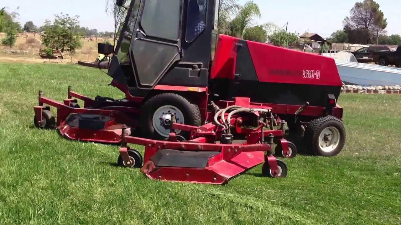 SOLD Toro 580D WAM rotary mower diesel turf & field wide ...