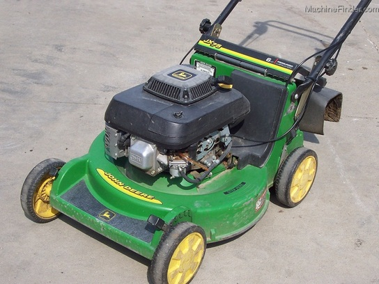 1999 John Deere JX75 5-speed BBC walk-behind mower, with bag, chute ...