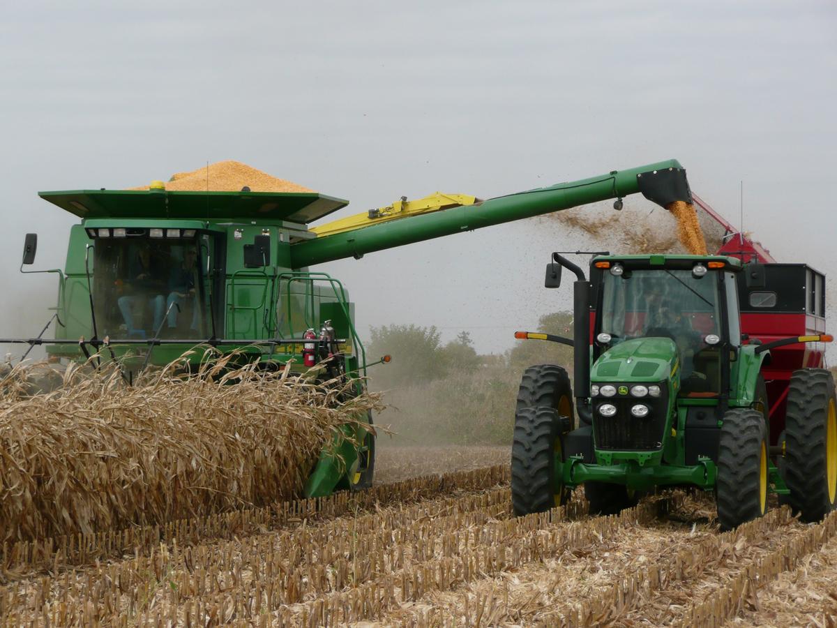 corn harvesting equipment