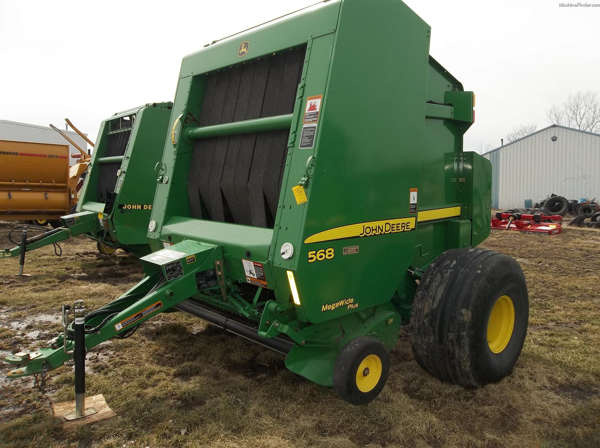 2009 John Deere 568 Hay Equipment - Round Balers - John ...