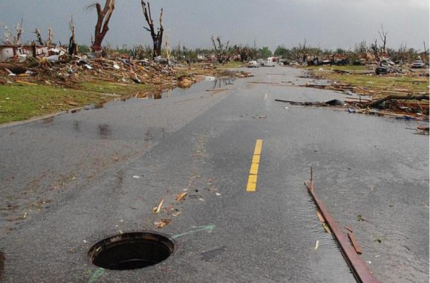 Joplin tornado manhole cover