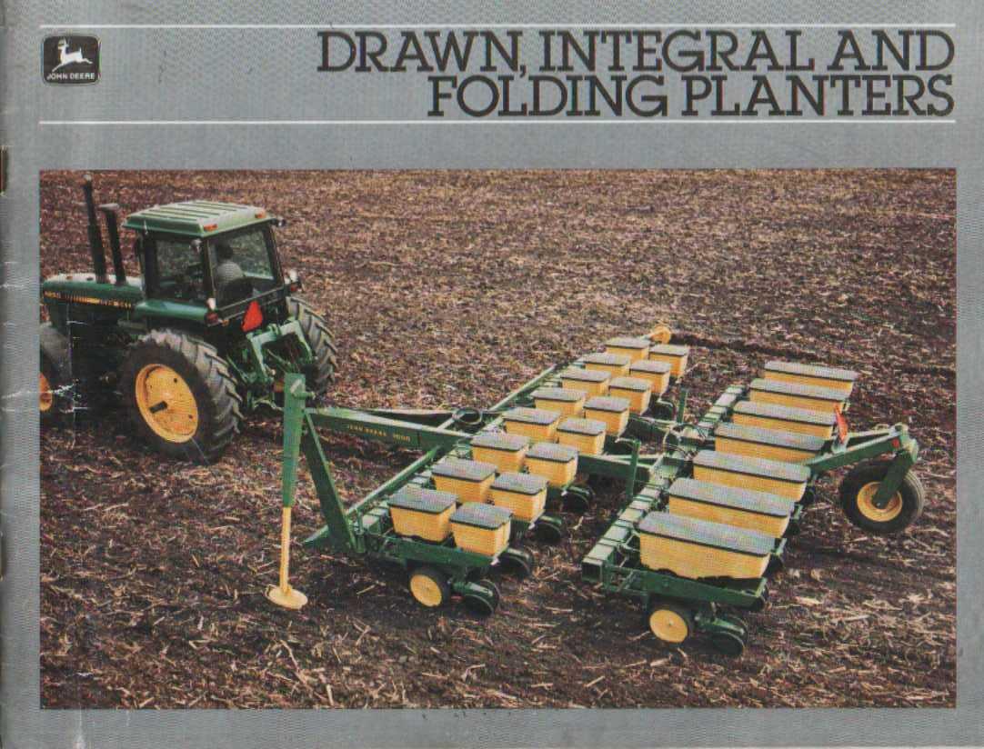 John Deere Drawn Integral and Folding Planter Brochure