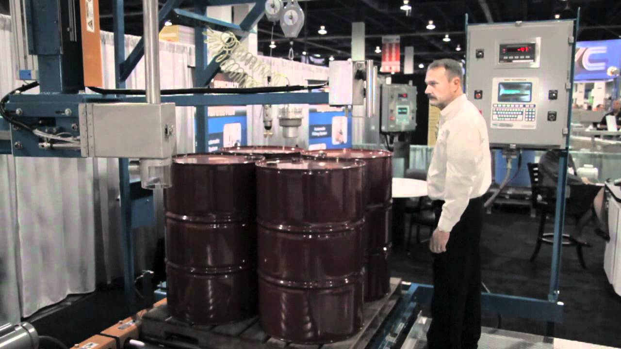 Specialty Equipment - Palletized Drum Filling System - YouTube