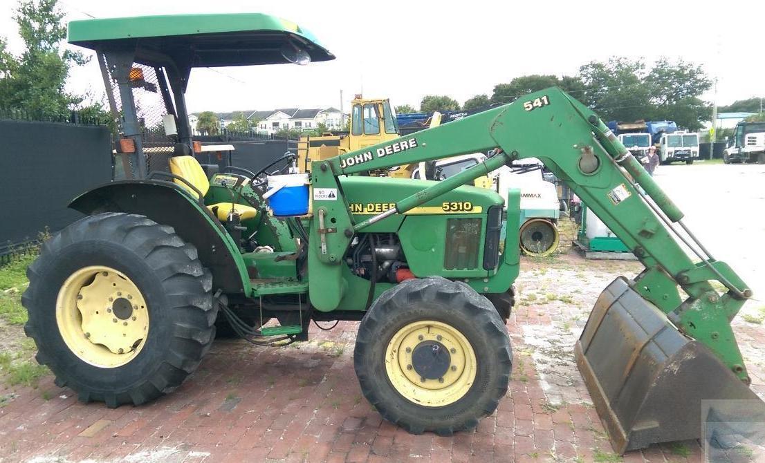 1995 John Deere 5310 Utility Tractor with Bucket & Backhoe ...