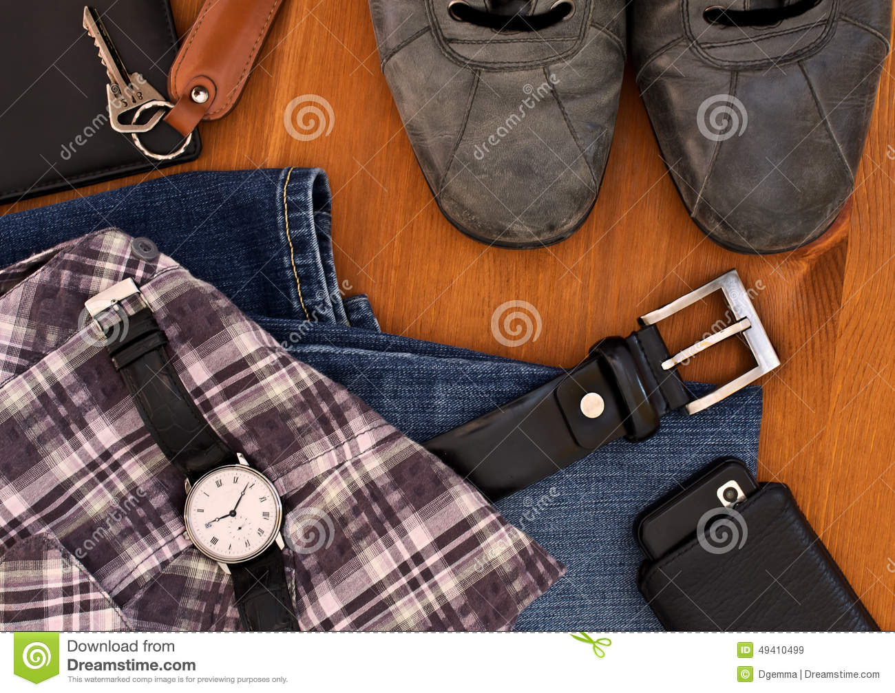 Men's Clothing And Accessories Stock Photo - Image: 49410499