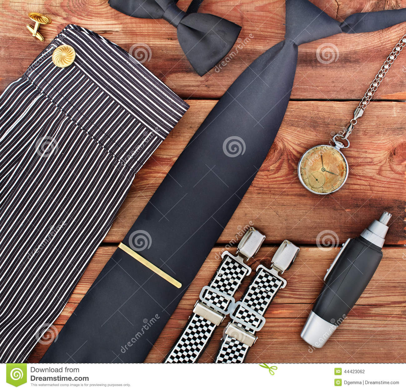 Set Of Men's Accessories. Stock Photo - Image: 44423062