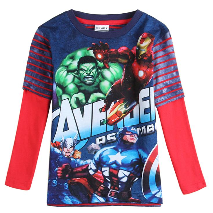 Captain America Iron Clothing for boys clothes t shirt All ...
