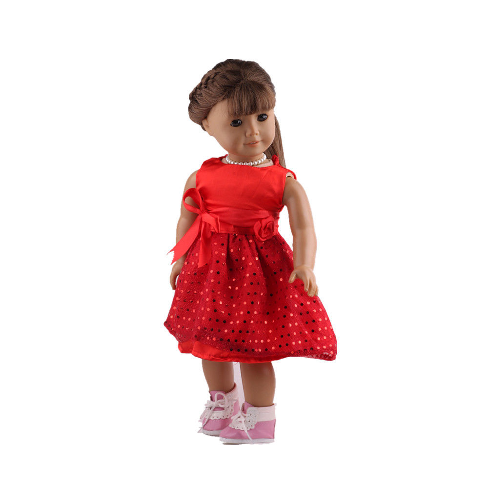 2016 red 18inch American Girl Doll Clothes Dress American ...