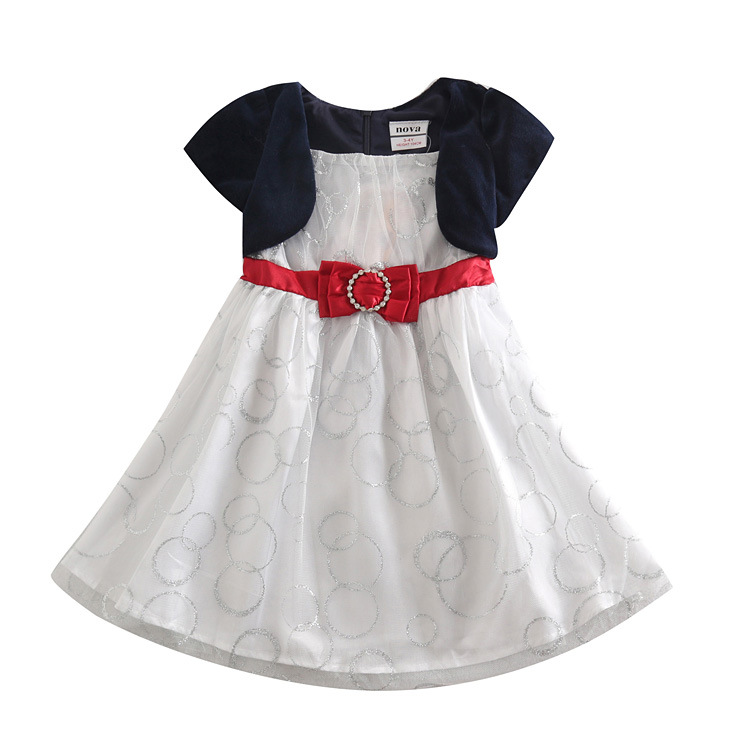 Sapphire-blue-Kid-dresses-for-girls-2-6-years-casual-dress ...