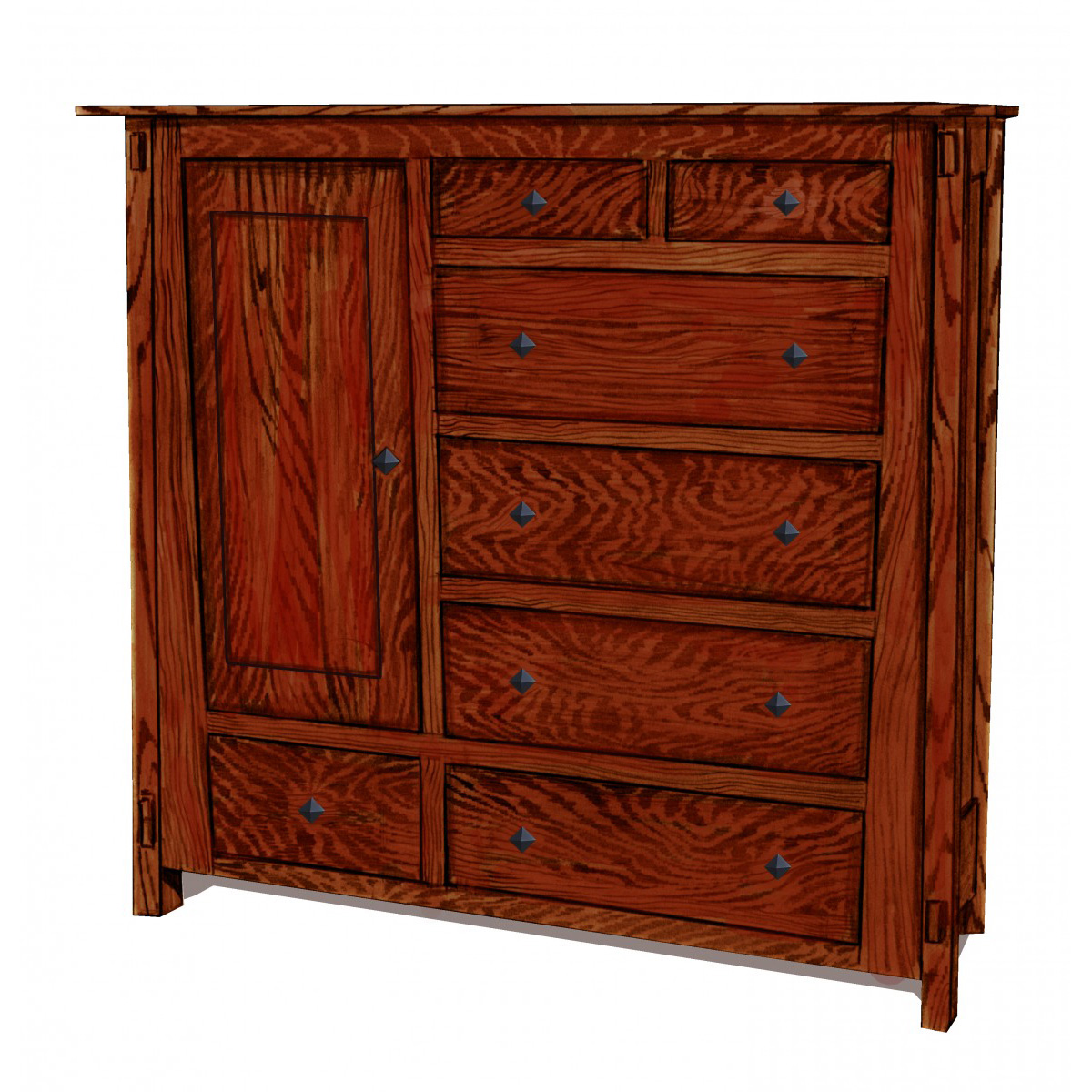 Angled Bedroom Collection Gentlemen's Chest - Amish ...