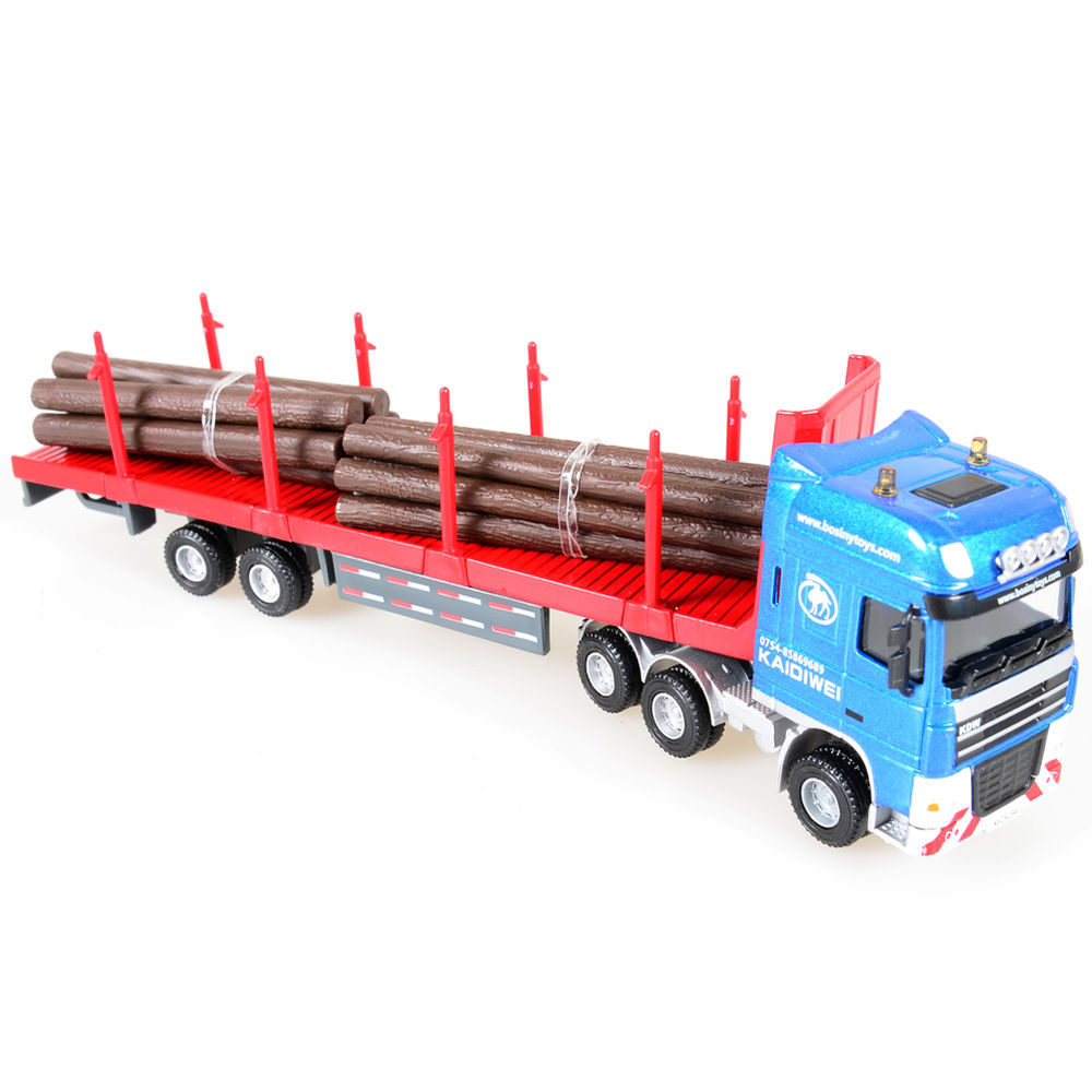 1:50 Scale Diecast Log Transporter Trucks Construction ...