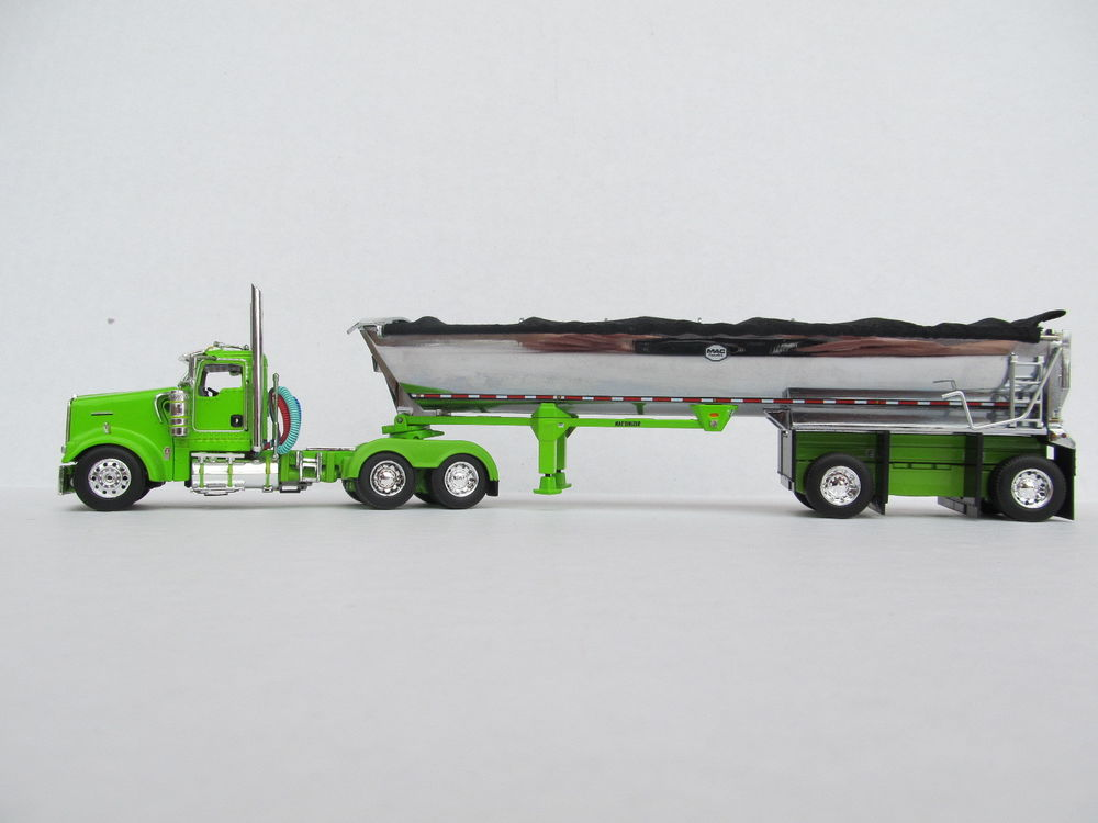 DCP 1/64 SCALE W-900 KENWORTH DAY CAB LIME/GREEN WITH MAC ...