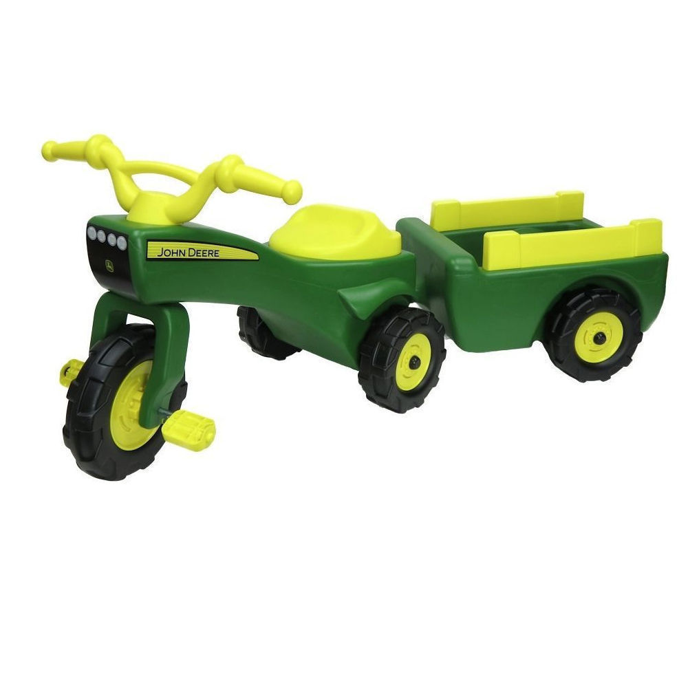 John Deere 46088 Ride on Pedal Trike Tractor w/ Pull Wagon ...