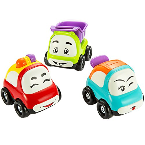 Pictek Cars Toy, Set of 3 Play Vehicles, Push and Go ...