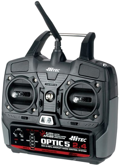 Optic 5 - 2.4GHz 5 Channel Radio Control System - RobotShop