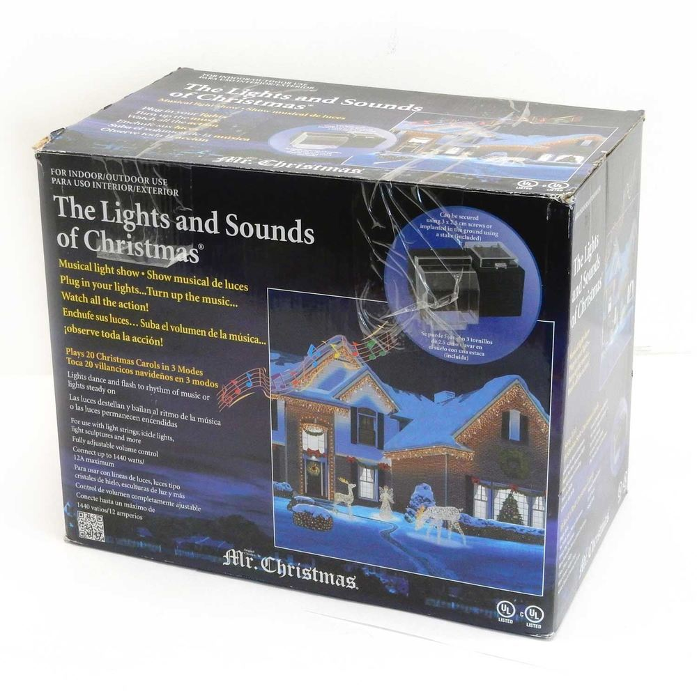 Mr. Christmas Lights and Sounds of Christmas Outdoor 20 ...
