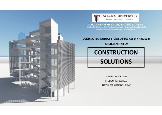 Building Technology 1 Assignment 2 - Construction Solutions