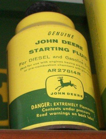 119: John Deere 4 Legged Deer Starting Fluid Can : Lot 119