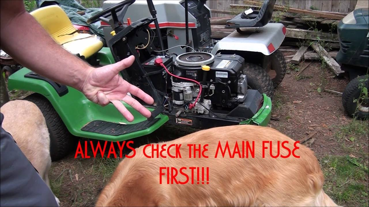 HOW TO TROUBLESHOOT and DIAGNOSE a JOHN DEERE RIDING ...