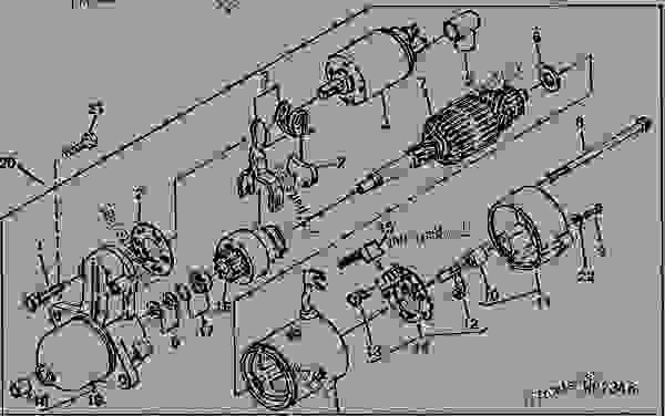 STARTER MOTOR [B12] - AMT John Deere AMT 600 - AMT - 600 ...