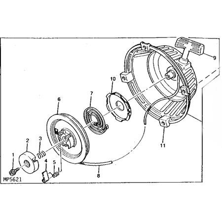 John Deere Recoil Starter Assembly - AM118760