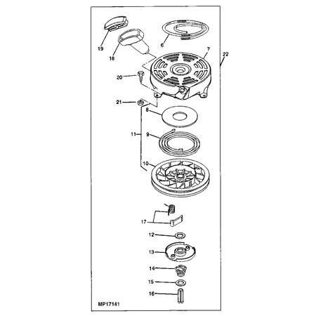 John Deere Recoil Starter Assembly - LG497598