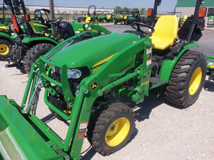 John Deere 2032R with H130 loader.32 engine,24 PTO hp from a 100 cid ...