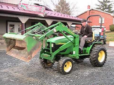 JOHN DEERE 4115 HST Tractor 410 Loader 4WD on EBAY - YouTube